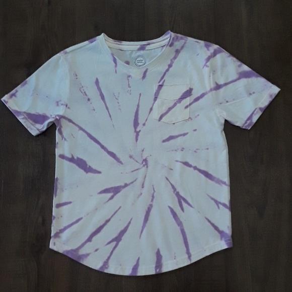 Wonder Nation Boys V Neck Pocket T Shirt X-Small Lavender Tie dye NEW 4-5